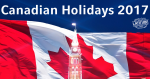 canadian holidays 2017